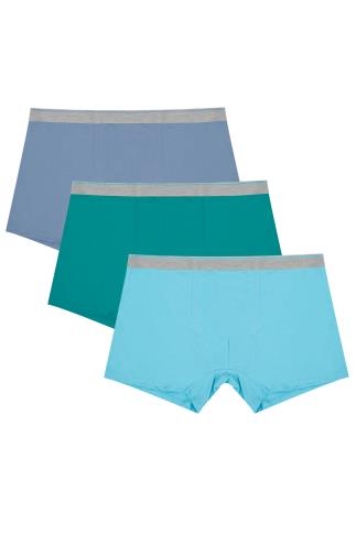 BadRhino Blue Multi A-Front Trunks 3 Pack