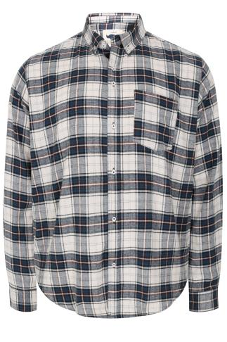 BadRhino Blue Brushed Checked Shirt