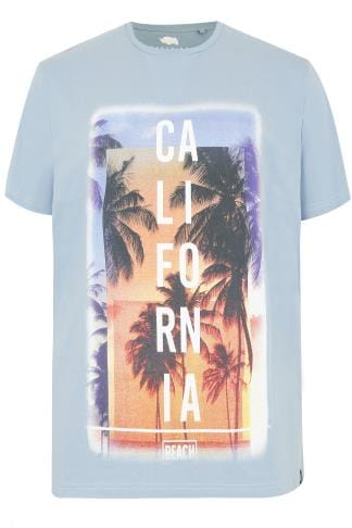 BadRhino Blue 'California' Slogan T-shirt