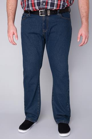 BadRhino Stonewash Denim Straight Leg Jeans - TALL