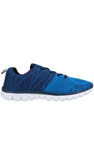 Blue & Navy Knit Trainers