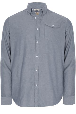 BadRhino Blue Vintage Oxford Cotton Shirt