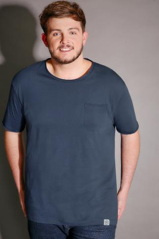 BadRhino Blue T-Shirt With Chest Pocket