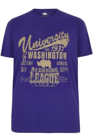BadRhino Blue Washington Slogan T-Shirt