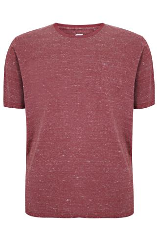 BadRhino Burgundy Marl Short Sleeved Pocket T-Shirt