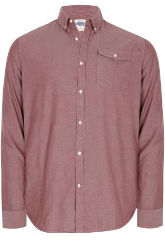 BadRhino Burgundy Vintage Oxford Cotton Shirt