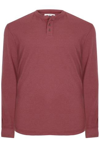 BadRhino Burgundy Garment Dyed Heavyweight Jersey Top