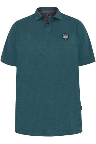 BadRhino Dark Green Marl Polo Shirt With Logo Badge