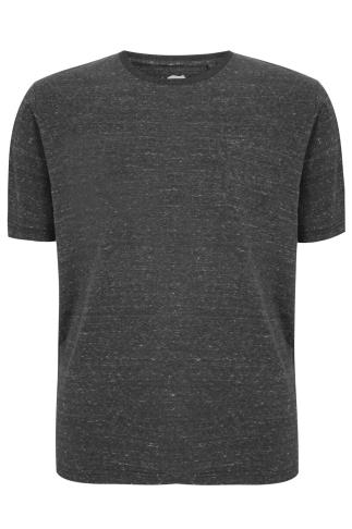 BadRhino Dark Grey Marl Short Sleeved Pocket T-Shirt