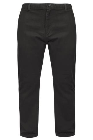BadRhino Dark Grey Stretch Chinos - TALL