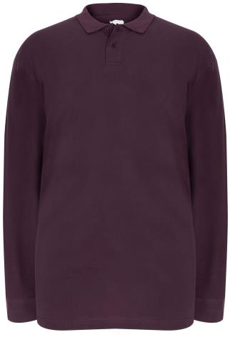 BadRhino Dark Purple Long Sleeve Polo