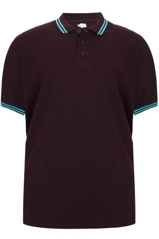 BadRhino Dark Purple Short Sleeved Polo Shirt - TALL