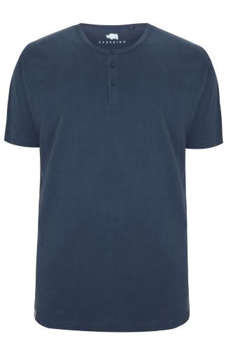 BadRhino Denim Blue Short Sleeve Grandad T-Shirt