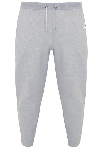 BadRhino Grey Marl Basic Sweat Joggers With Pockets - TALL