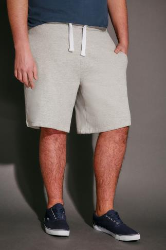 Jersey Shorts BadRhino Grey Marl Sweat Shorts 110477