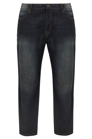 BadRhino Indigo Dark Wash Denim Straight Leg Jeans