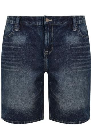 BadRhino Indigo Denim Faded Leg 5 Pocket Shorts