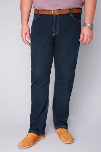 BadRhino Indigo Denim Straight Leg Stretch Jeans - TALL
