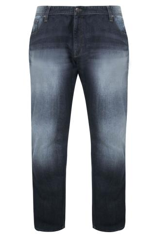 BadRhino Indigo Faded Bootcut Stretch Jeans