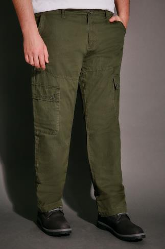BadRhino Khaki Cargo Trouser With Utility Pockets - TALL