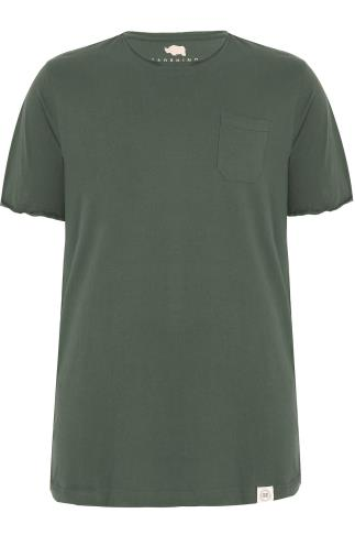 BadRhino Khaki T-Shirt With Chest Pocket