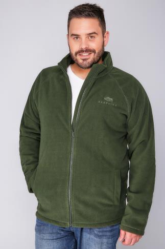 Fleece BadRhino Khaki Zip Through Fleece 110126
