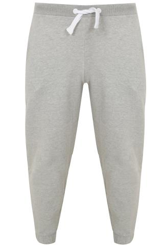 BadRhino Light Grey Marl Jogging Bottoms