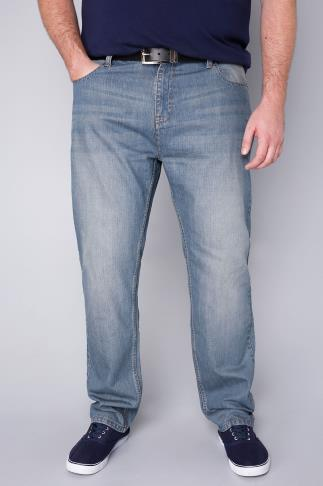 BadRhino Light Wash Denim Tapered Jeans