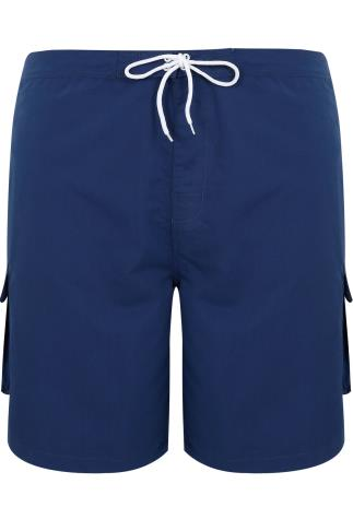 BadRhino Navy Cargo Swim Shorts
