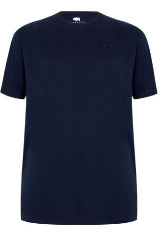 BadRhino Navy Crew Neck Basic T-Shirt