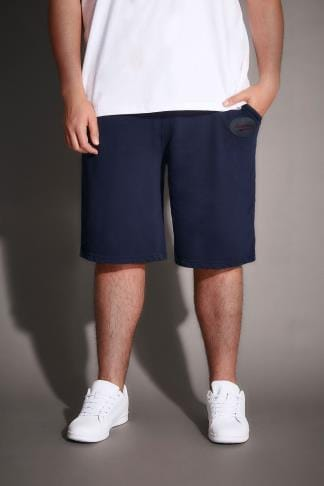 Jersey Shorts BadRhino Navy Jersey Shorts With Pockets & Logo Detail 200162