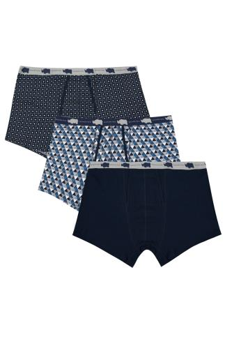 3 PACK BadRhino Navy & Multi A-Front Trunks