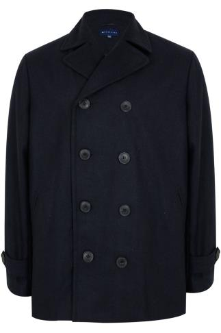 BadRhino Navy Reefer Coat