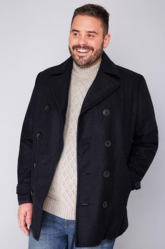 Coats BadRhino Navy Reefer Coat 102097