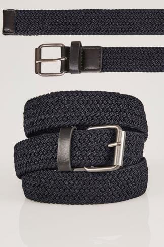Belts & Braces BadRhino Navy Stretch Woven Belt 200935