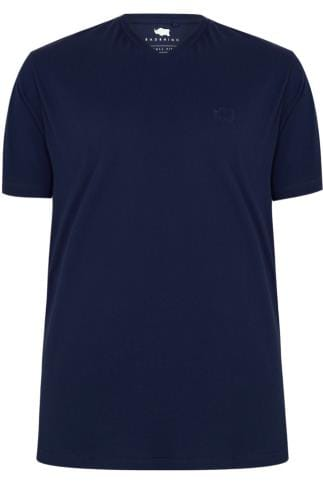 Tall T-Shirts BadRhino Navy V-Neck Basic T-Shirt - TALL 200282