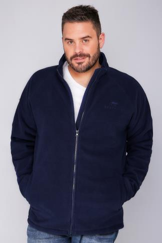 Fleece BadRhino Navy  Zip Through Fleece 110128