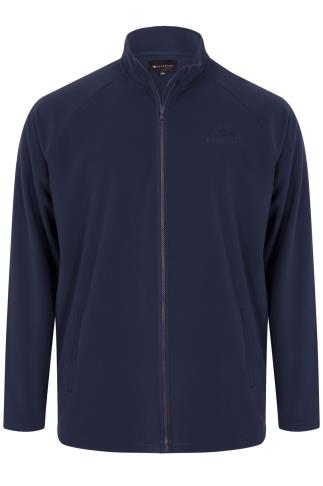 BadRhino Navy Zip Through Fleece