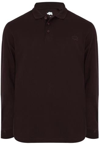 BadRhino Purple Long Sleeve Polo Shirt