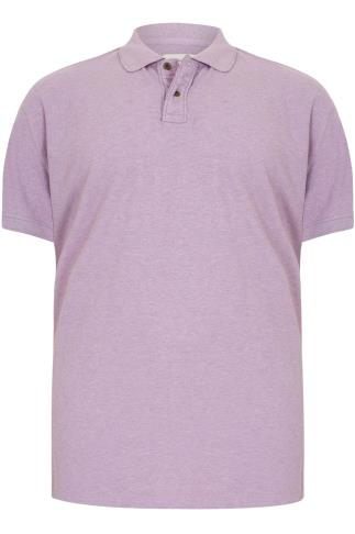 BadRhino Short Sleeve Lilac Marl Vintage Washed Polo