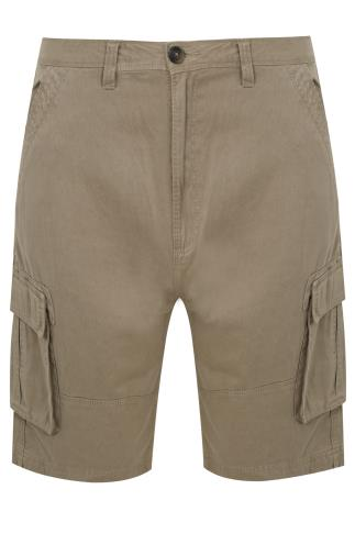 BadRhino Stone Brown Cargo Shorts