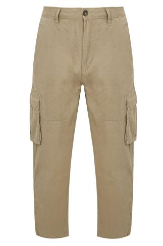 BadRhino Stone Brown Cargo Trousers With Utility Pockets