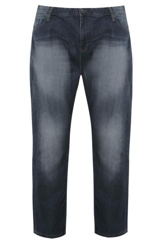 BadRhino Stone Wash Denim Straight Leg Stretch Jeans