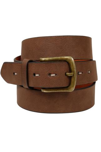 Belts & Braces BadRhino Tan Bonded Leather Jean Belt 110445