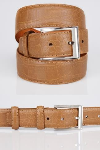 Belts & Braces BadRhino Tan Textured Bonded Leather Belt 110448