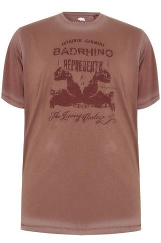 T-Shirts BadRhino Vintage Red California Slogan T-Shirt 200119