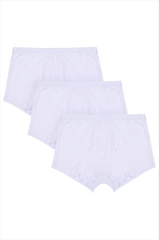 BadRhino White A Front Boxer Trunks 3 Pack