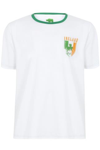 BadRhino White Short Sleeve T-Shirt With Republic Of Ireland Emblem