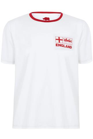 BadRhino White Short Sleeves T-Shirt With England Emblem