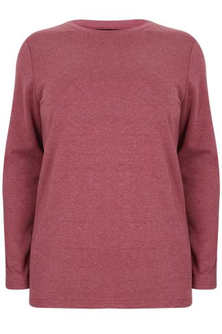 Berry Red Long Sleeve Sweat Top